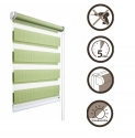 42 Roller blinds D&N / lime green
