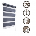 45 Roller blinds D&N / blue-gray marengo